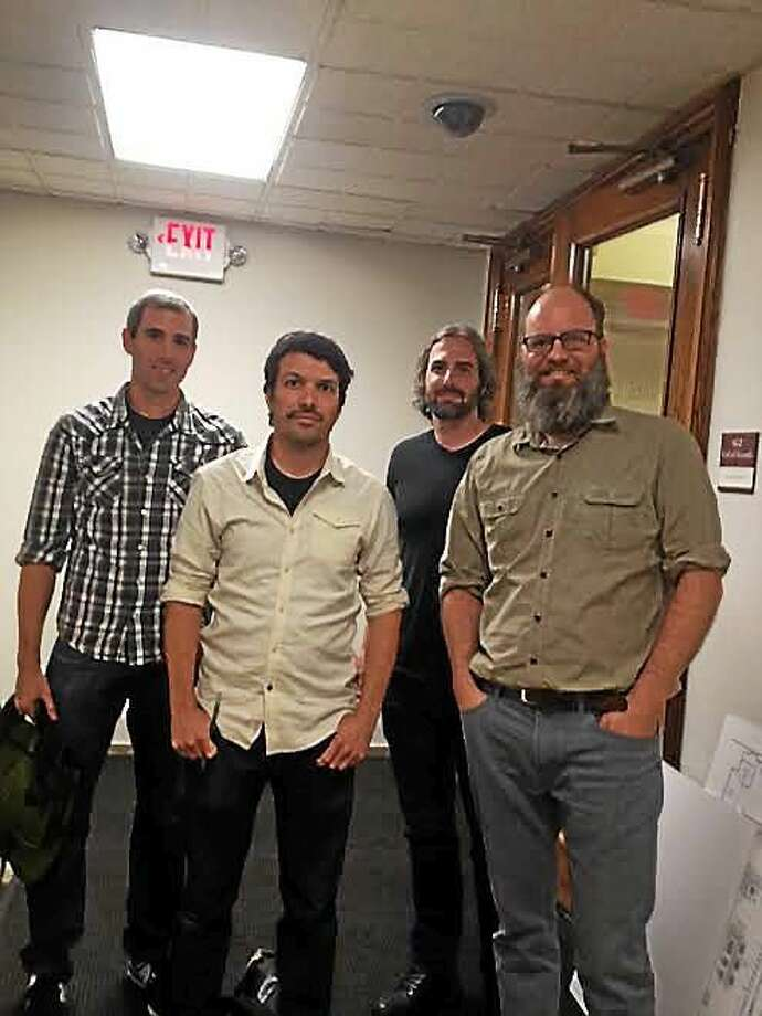 Principals and co-founders of Barcade want to open up restaurant at 56 Orange St. Left to right: Scott Beard, Paul Kermizian, Kevin Beard and Pete Langway at Hall of Records for BZA hearing. Photo: (Mary O'Leary - New Haven Register)