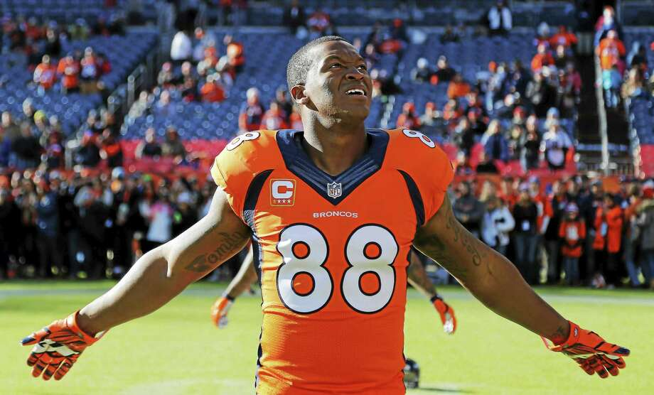 Demaryius Thomas found out Monday that his mother will be getting out of prison early. Photo: The Associated Press   / FR42408 AP