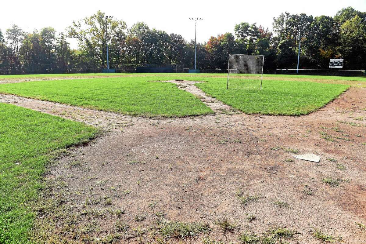 The baseball field at Hamden High School is seen Tuesday. Plans are being submitted later this month to convert the baseball field into a multi-use artificial surface athletic field which can be used by the school's soccer, field hockey, lacrosse, baseball and softball teams.