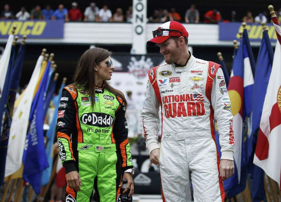 The relationship between Dale Earnhardt Jr., right, and Danica Patrick will need repairing after a couple of on-track incidents late in the Saturday at Kentucky Speedway that left both with damaged Chevys, low finishes and a little bad blood between them. Photo: The Associated Press File Photo   / AP