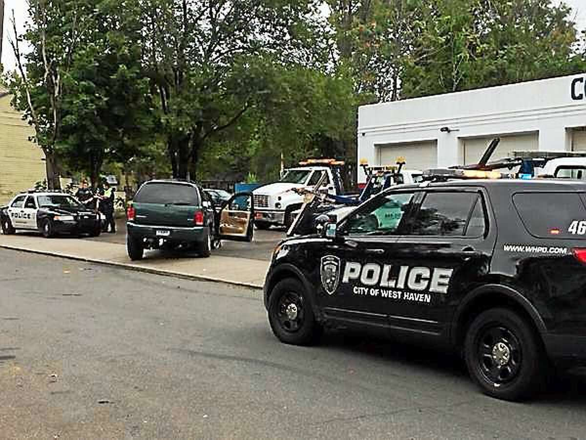 A police pursuit ended with an SUV crash in New Haven Friday morning.