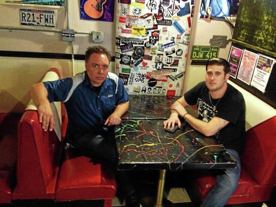 The Space in West Haven founder and director Steve Rodgers, left, and manager and booking agent Nick Firine didn't know what to expect when they first decided to go public with The Space's problems, but have been encouraged so far by the response. Photo: Mark Zaretsky - New Haven Register