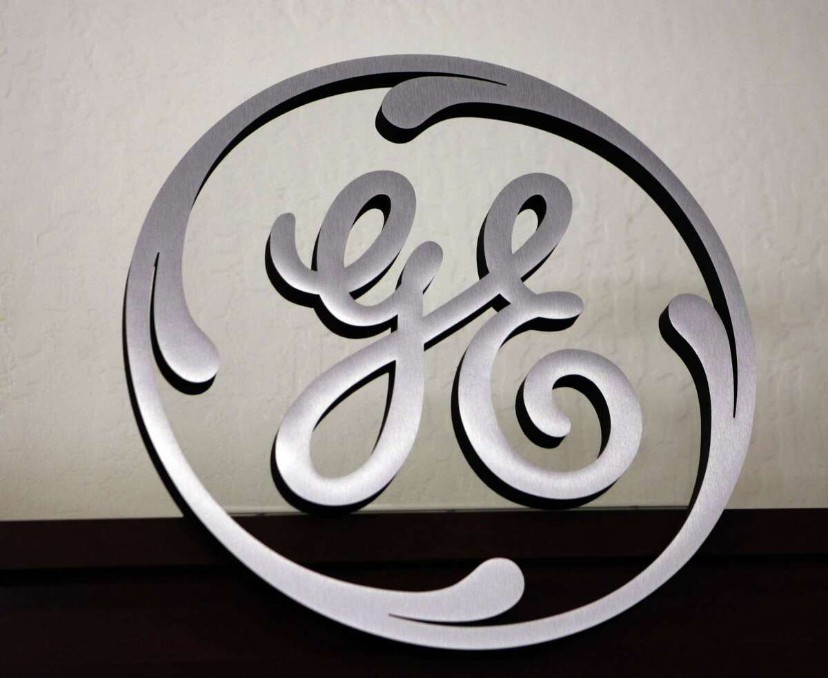 A General Electric logo on display at Western Appliance store in Mountain View, Calif.