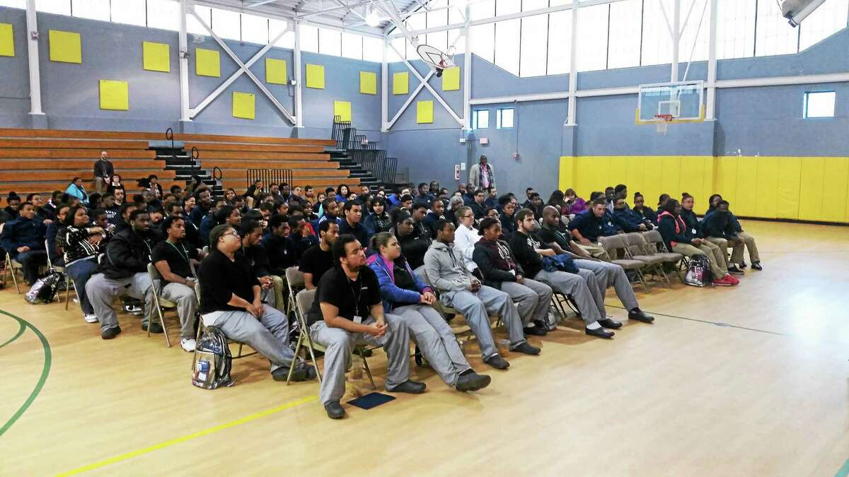 Job Corps students attend an awards ceremony Monday in New Haven.
