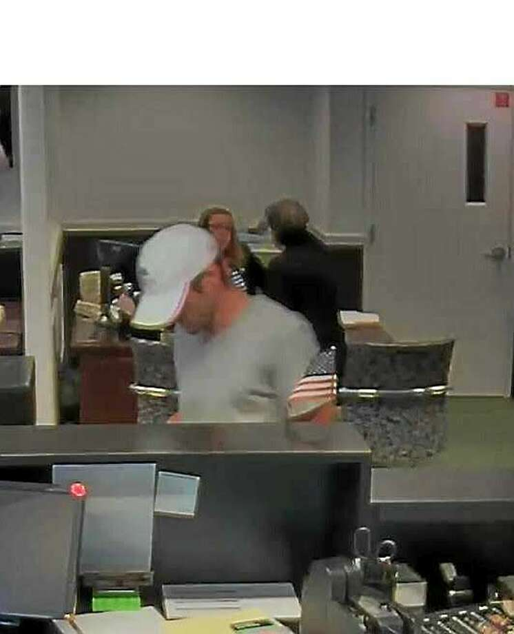 Police are looking for this man, who they say was involved in a robbery at TD Bank Friday night. Photo: Connecticut State Police