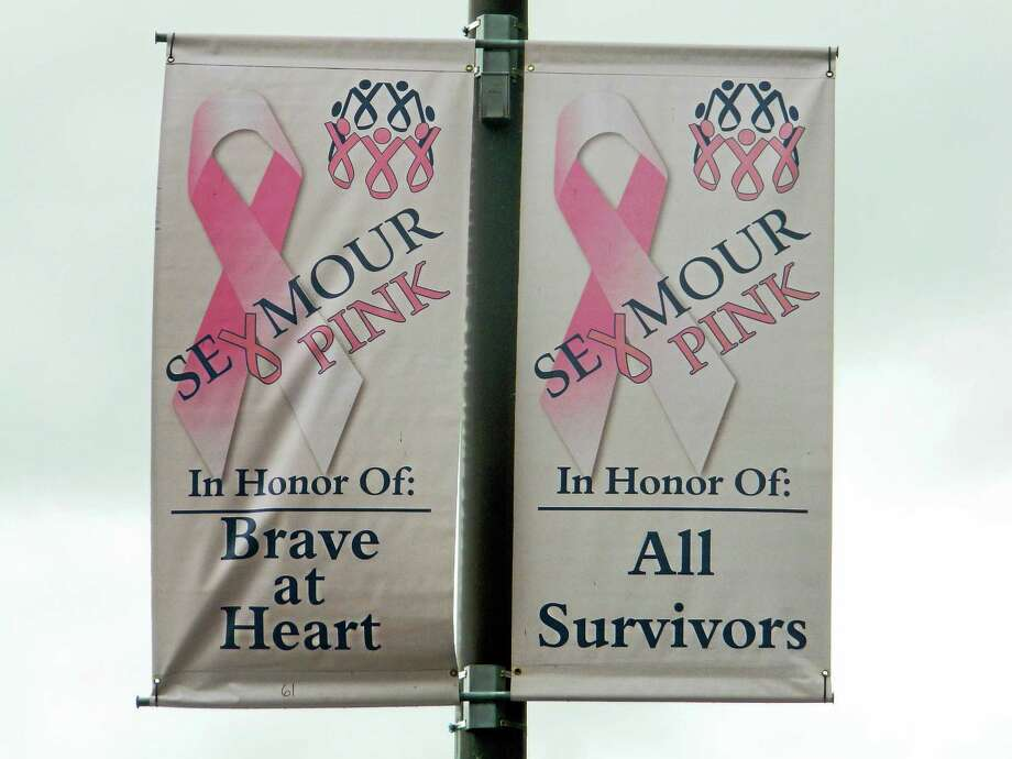 """Seymour Pink organizers are encouraging everyone to """"think pink, decorate pink and wear pink"""" Wednesday. Photo: Jean Falbo-Sosnovich — For The Register"""