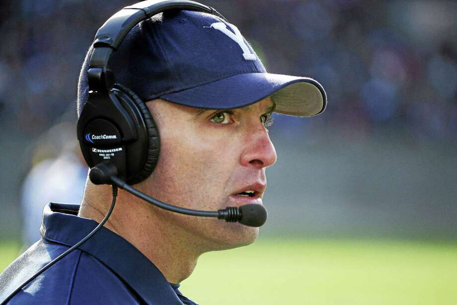 Head coach Tony Reno's Yale football team was picked third in the Ivy League preseason media poll. Photo: Stephan Savoia — The Associated Press File Photo   / AP