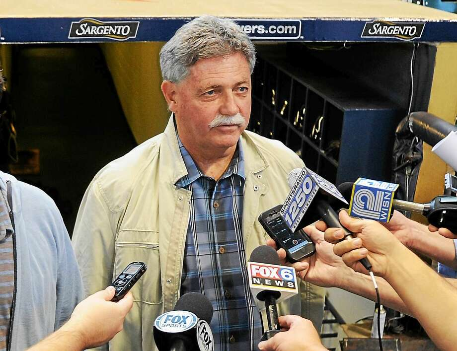Doug Melvin is leaving his job as general manager of the Milwaukee Brewers. Photo: Benny Sieu — The Associated Press File Photo   / FR171242 AP
