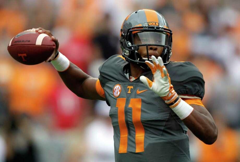 Tennessee quarterback Joshua Dobbs. Photo: The Associated Press   / FR23601 AP
