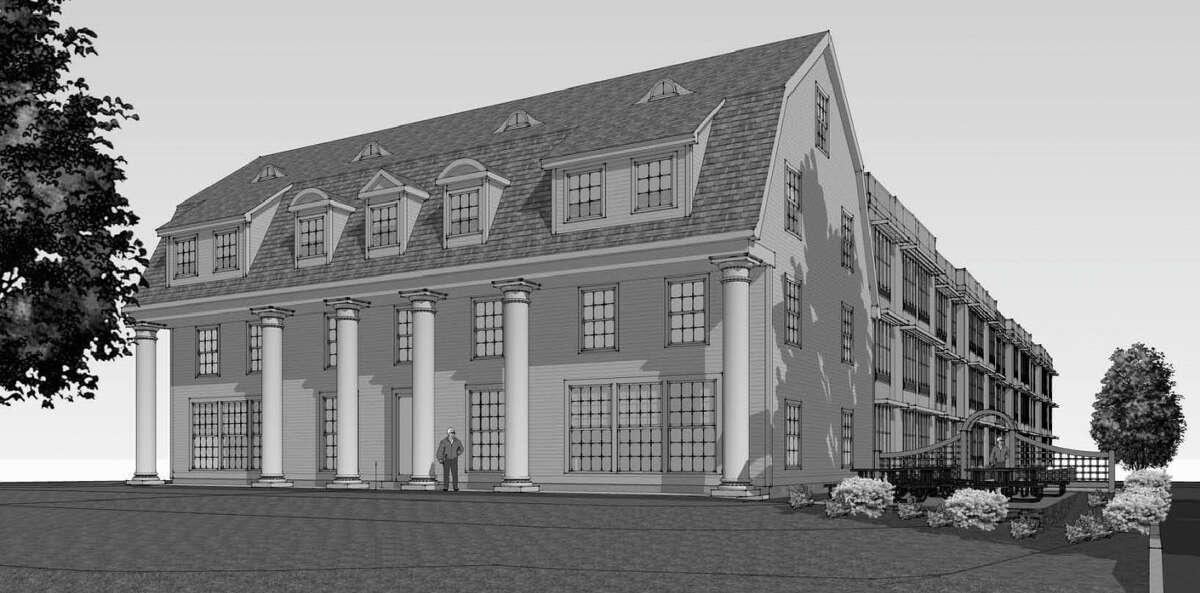Artist's rendering of the building plan for 3139 Whitney Ave. in Hamden.