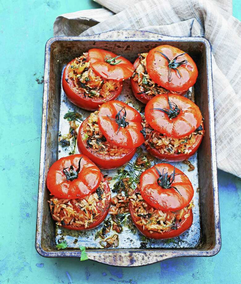 Greek Rice-Stuffed Tomatoes Photo: Peter Cassidy   / © Peter Cassidy 2014?