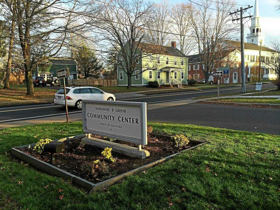 Photo by Sarah Page Kyrcz  The hit and run took place at the south entrance at the Nathanael Greene Community Center on Church Street, according to police. There are no cross walks at that location. Photo: Journal Register Co.