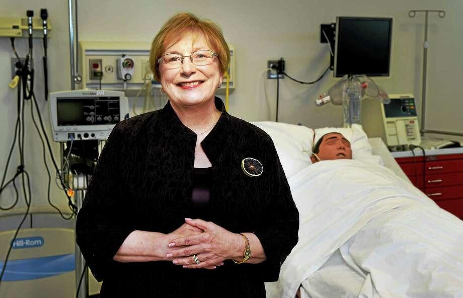 Dean Margaret Grey of the Yale University School of Nursing in the simulation lab at the nursing school at Yale's West Campus in Orange. Grey is stepping down as dean. Photo: (Peter Hvizdak - New Haven Register)   / ©2015 Peter Hvizdak