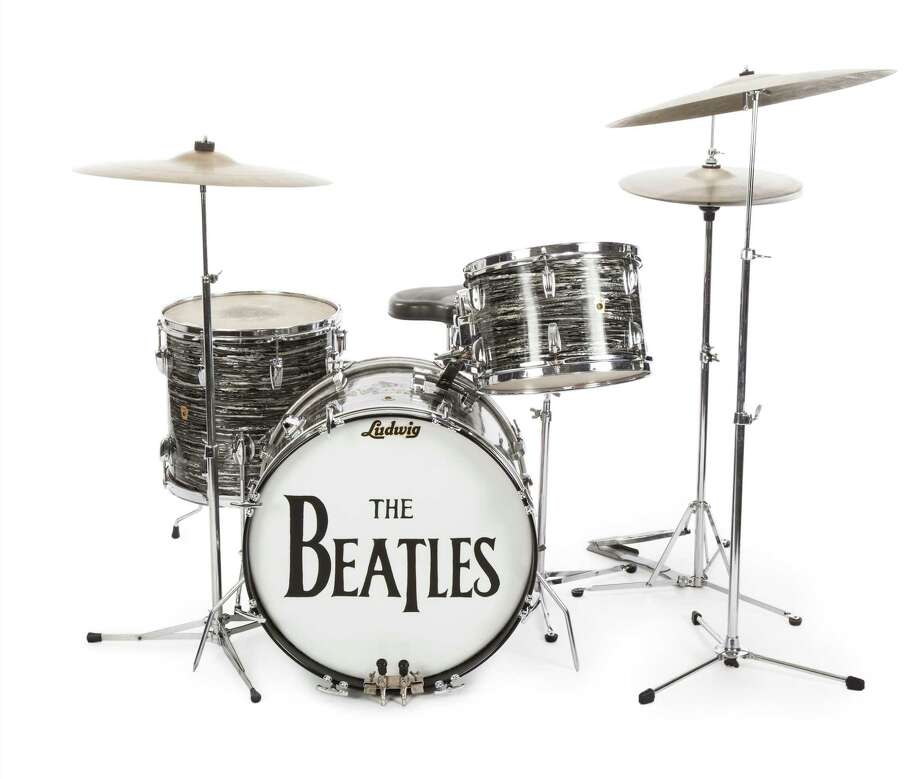 This photo provided on Friday, Dec. 4, 2015, shows a drum kit that Ringo Starr used to record some of the Beatles' early hits, sold for $2.2 million at an auction to Indianapolis Colts owner Jim Irsay. Photo: AP Photo/Caroline Galloway    / Caroline Galloway