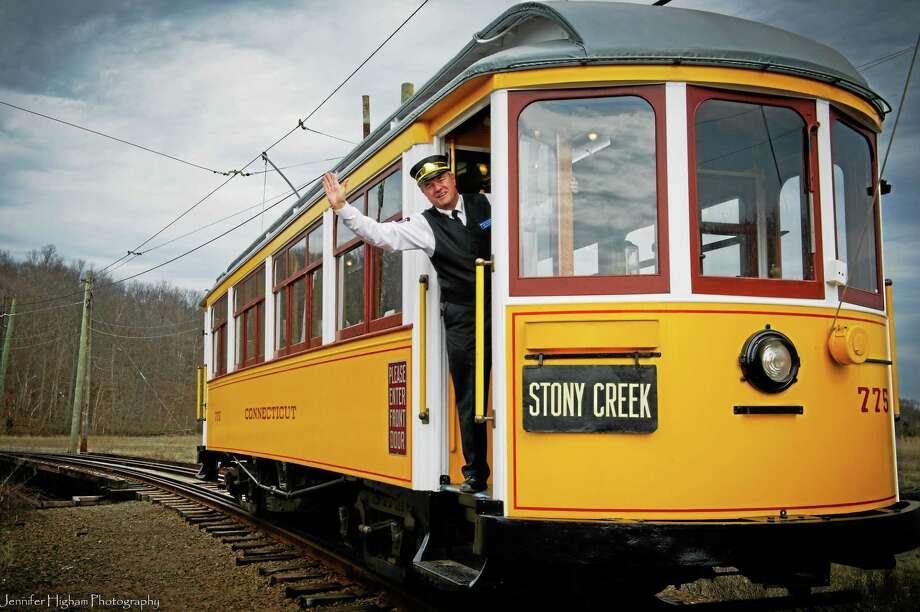 John R. Soehnlein, volunteer trolley conductor on trolley car number 775. Contributed-Shoreline Trolley Museum Photo: Journal Register Co. / JENNIFER HIGHAM PHOTOGRAPHY