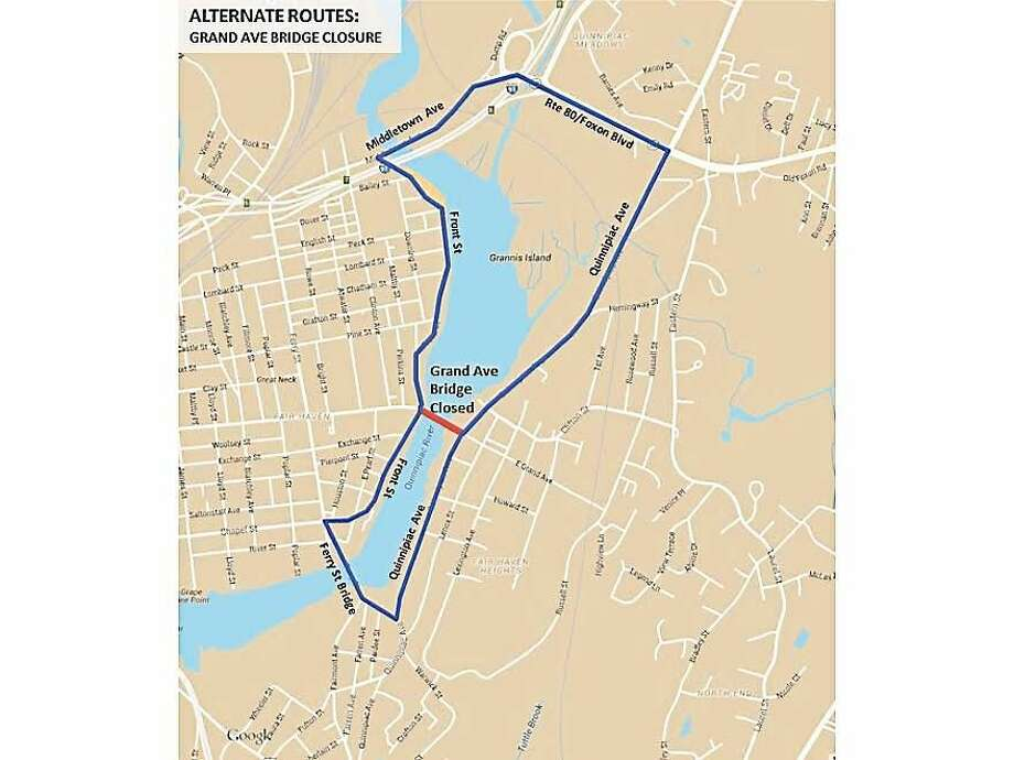 Alternate routes to take while the Grand Avenue Bridge is temporarily closed Photo: Contributed Photo