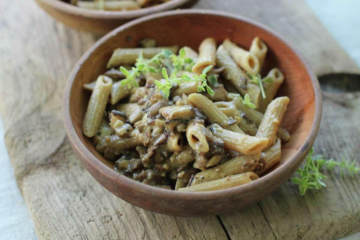 Mushroon-Miso Pasta