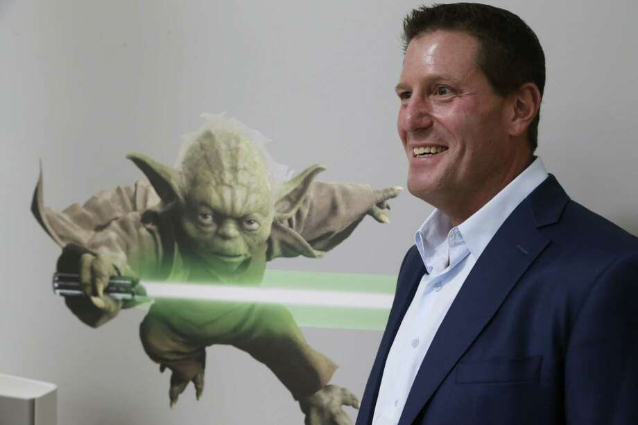 "In this July 13, 2015 photo, Disney chief strategy officer Kevin Mayer visits the company's ""accelerator"" space in Glendale, Calif. Photo: AP Photo/Damian Dovarganes   / AP"