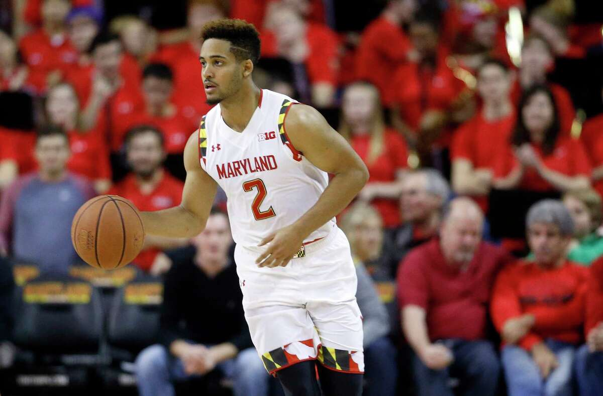 Guard Melo Trimble and Maryland will take on UConn on Tuesday at Madison Square Garden.