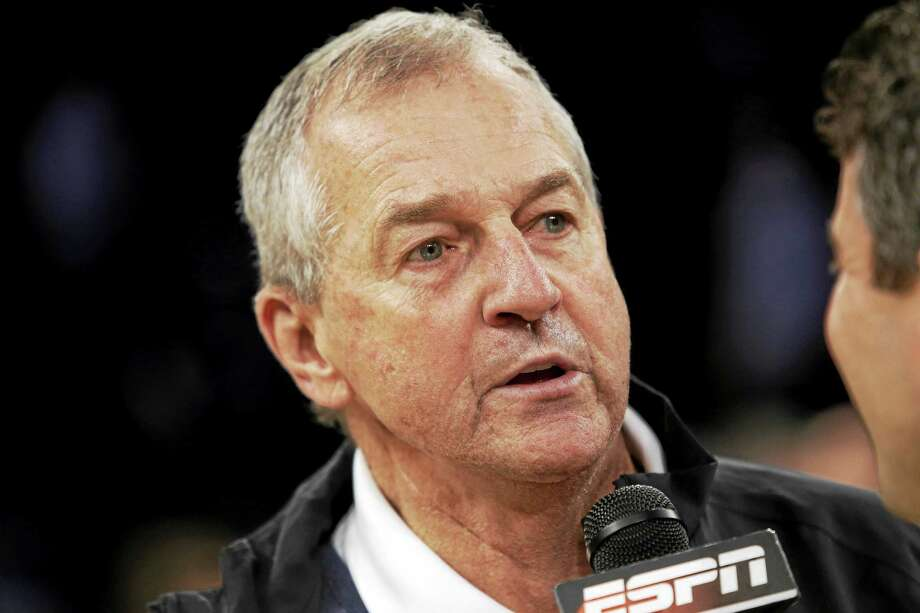 Jim Calhoun may find himself broadcasting a lot of Big Ten games this year for ESPN. Photo: Frank Franklin II — The Associated Press File Photo
