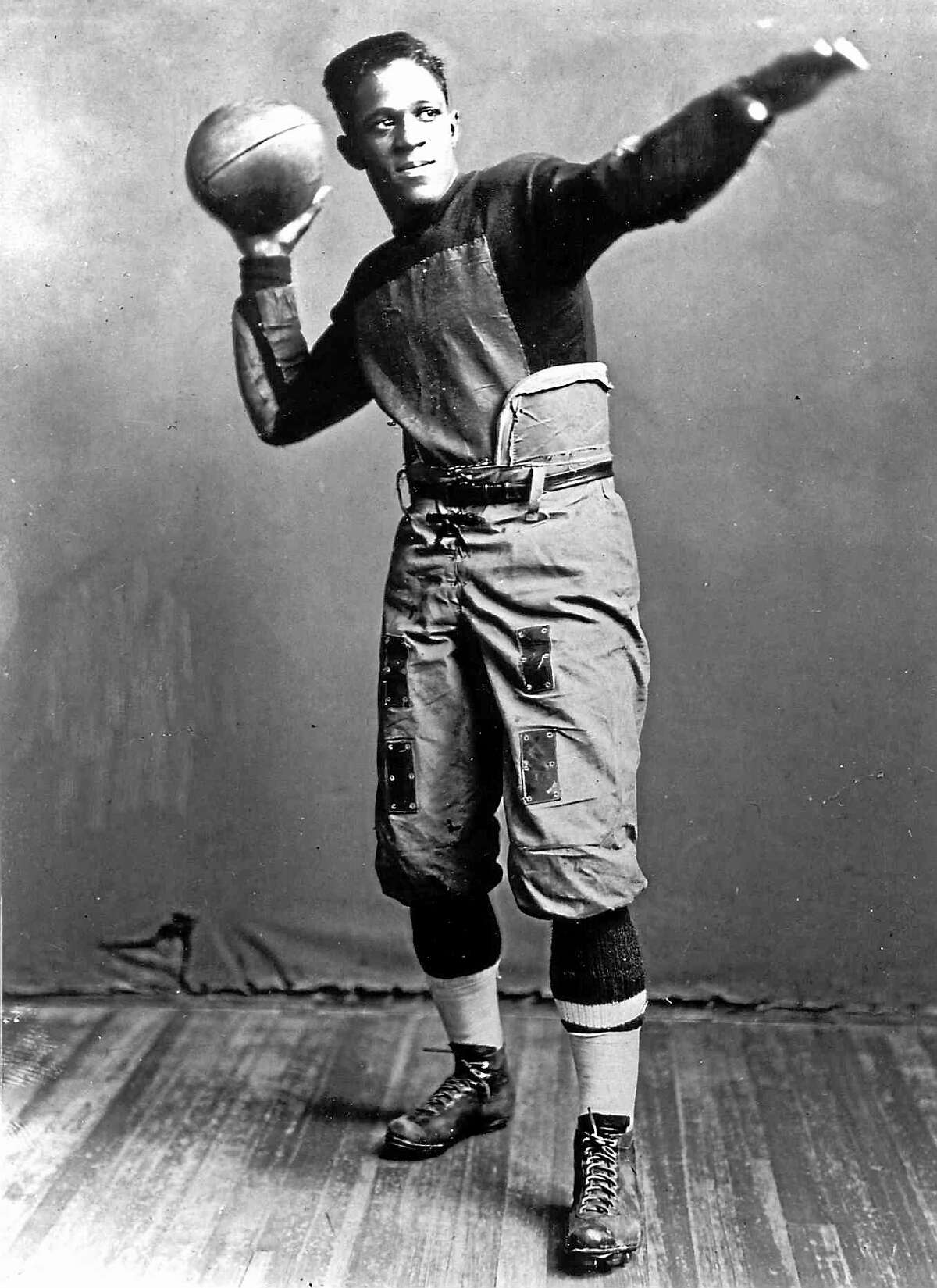 Brown's Fritz Pollard was the first black player to play in the Yale Bowl in 1915.