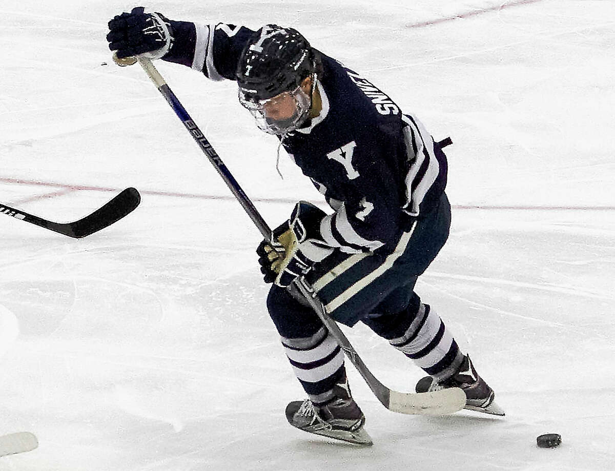 Yale freshman Joe Snively scored both goals in the Bulldogs' 2-2 tie at Harvard on Friday night.