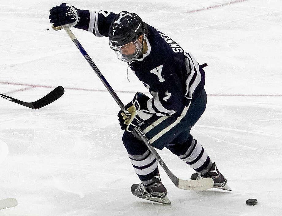 Yale freshman Joe Snively scored both goals in the Bulldogs' 2-2 tie at Harvard on Friday night. Photo: Photo Courtesy Of Yale Athletics   / Steve Musco