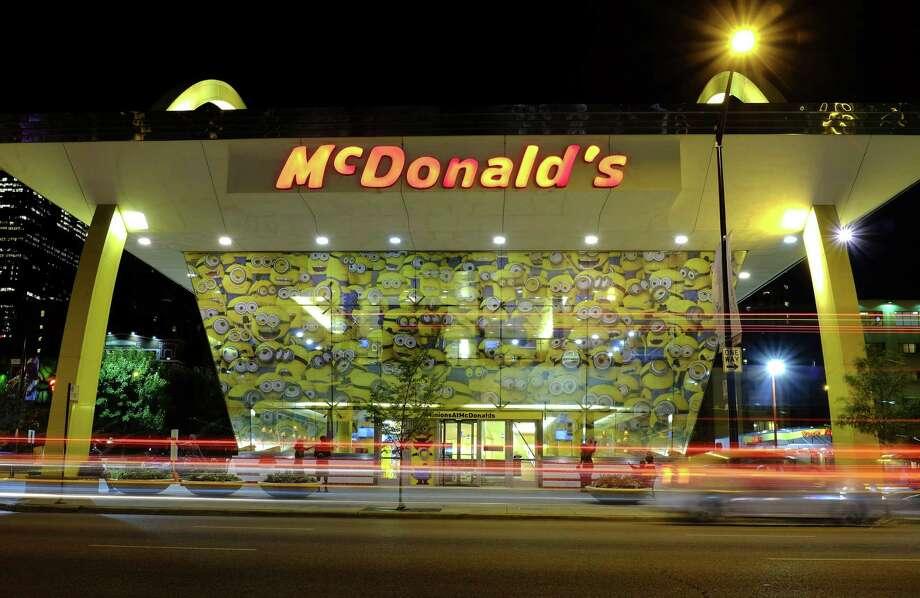 Images of Minions adorn a McDonald's restaurant in Chicago. Photo: Kiichiro Sato — The Associated Press   / AP