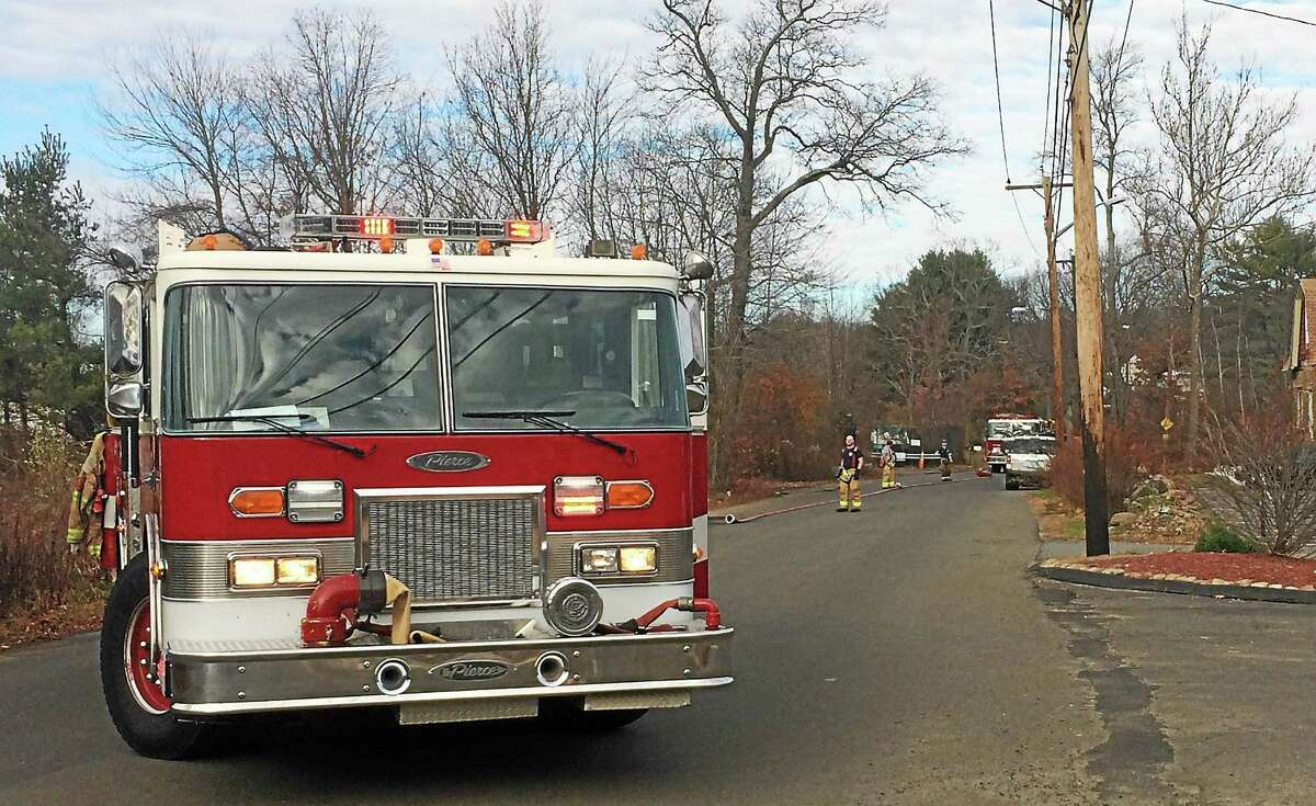 Part of Fresh Meadow Road in West Haven was blocked late Monday morning after a dryer fire broke out in a home.