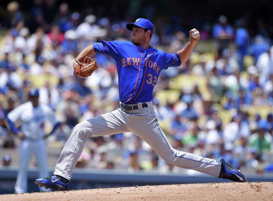 Mets starting pitcher Steven Matz has a partially torn muscle in his back that will sideline the impressive rookie at least a month. Photo: The Associated Press   / AP