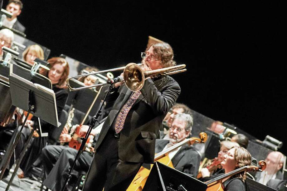 Chris Brubeck in concert with the NHSO. Photo: Contributed