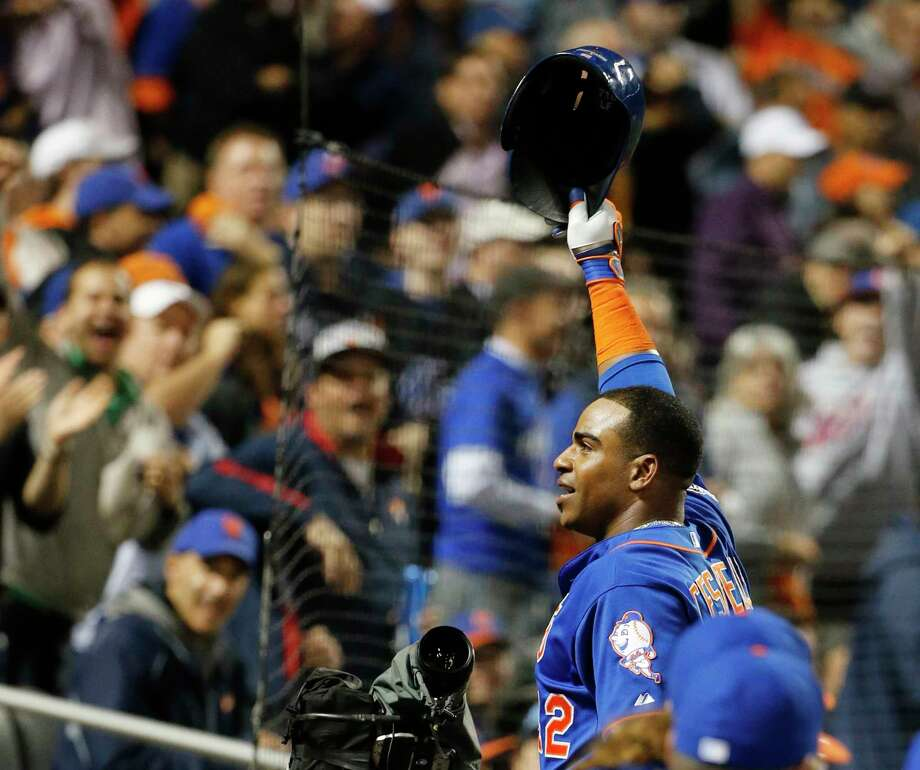 """The price for free agent Yoenis Cespedes is likely too steep for the NL champion Mets. """"It's unlikely right now that he ends up a Met,"""" assistant general manager John Ricco said Sunday. Photo: The Associated Press File Photo   / AP"""