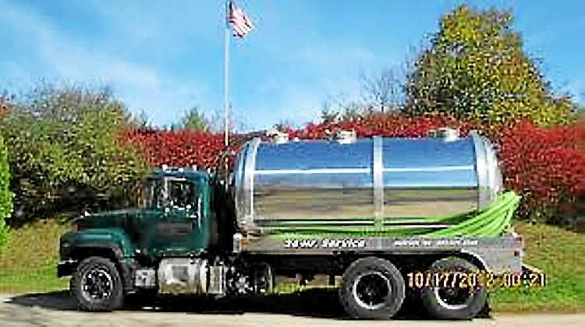 Orange police released this image of a tanker truck to show what kind of trucks they are looking for as they track down whoever has been illegally dumping grease into the town's sewer system. Anyone who sees such a truck in a commercial lot on the Boston Post Road is asked to call police on their nonemergency line.