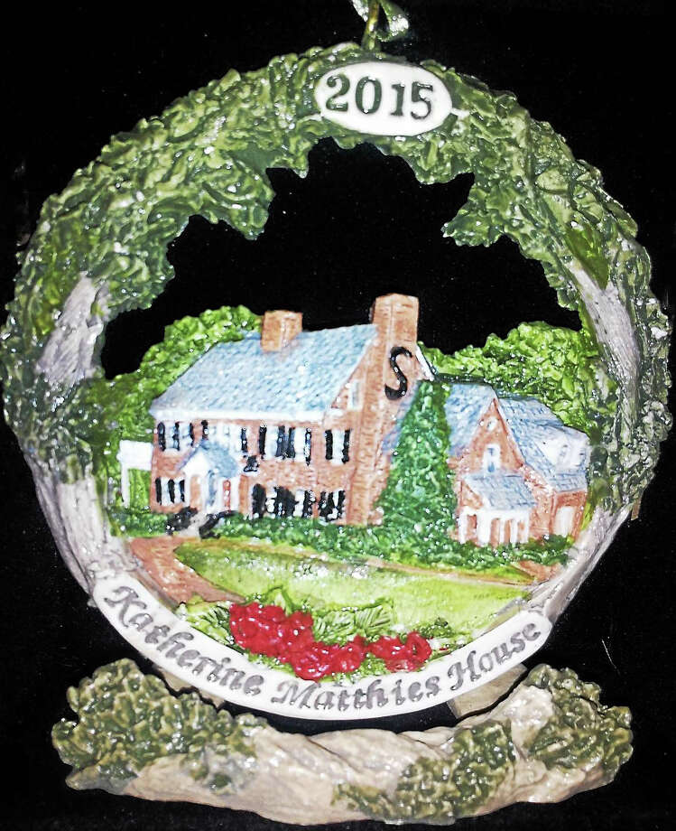 Contributed photoSeymour - This year's Seymour-Oxford Rotary Club ceramic ornament features the Katharine Matthies House. The cost is $20; with a decorative stand, it's $25. Some ornaments from previous years, with the Seymour Town Seal and Rimmon Falls, are also available at $20 each. For an ornament, go to Naugatuck Valley Health District office, 98 Bank St., or contact Joyce Barcley at jmb167@gmail.com or 203-881-0901. Photo: Journal Register Co.