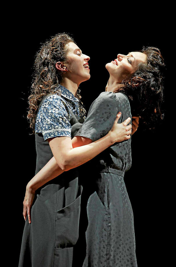 "Adina Verson, left, and Katrina Lenk in ""Indecent,"" written by Paula Vogel and directed by Rebecca Taichman. Photo: © Carol Rosegg    / Carol Rosegg"