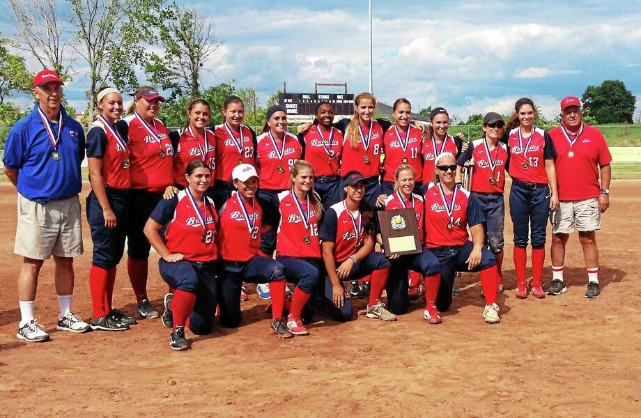 The Stratford Brakettes won their sixth straight national championship with a 19-2 victory over the New York Havoc on Sunday at DeLuca Field in Stratford. Photo: Jim Fuller — Register