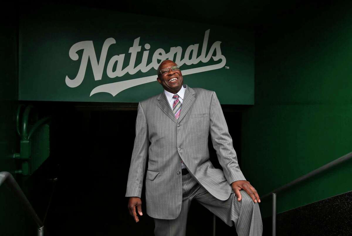 Dusty Baker poses for a picture after a news conference to present him as the new manager of the Nationals on Thursday in Washington.