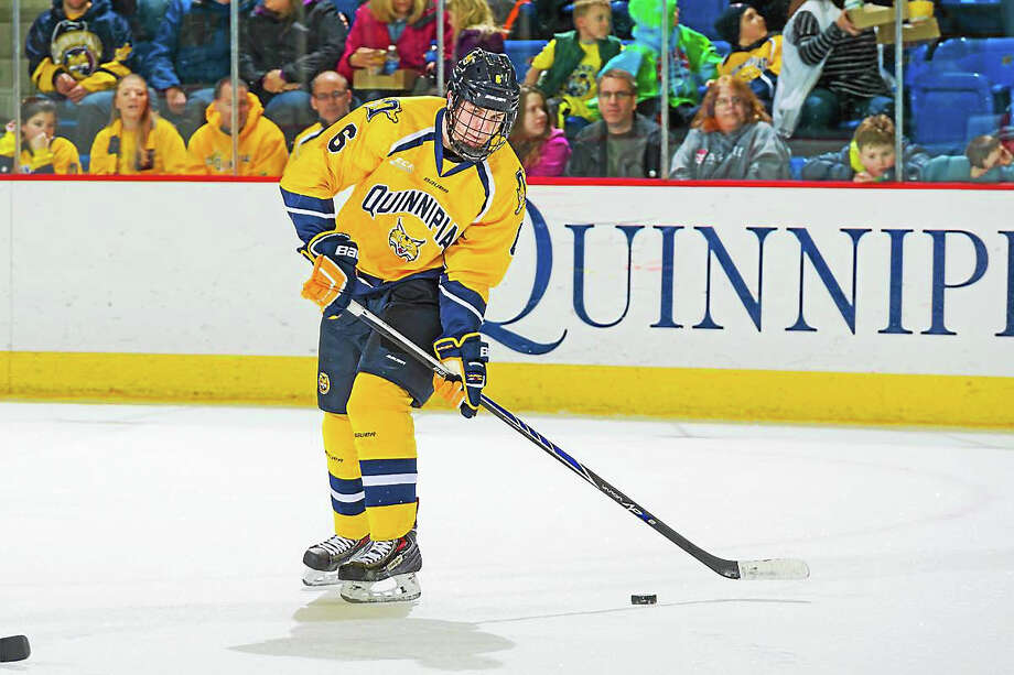 Junior defenseman Devon Toews has led a Bobcats penalty-kill unit that has yet to allow a power-play goal this season. Photo: Photo Courtesy Of Quinnipiac Athletics   / © John Hassett 2015