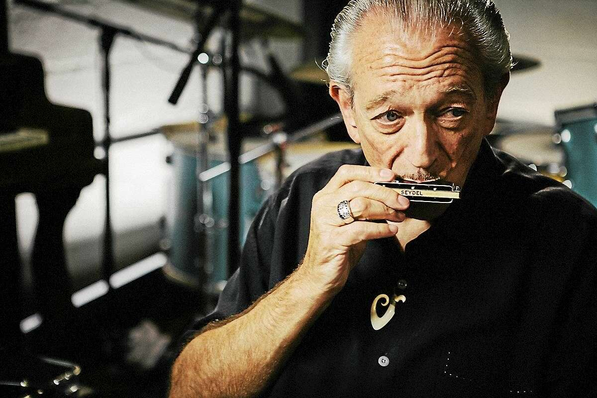 The equivalent of a blues doubleheader: Charlie Musselwhite, above, and 2015 Rock and Roll Hall of Fame keyboard player Mark Naftalin do a show at Fairfield Theatre Company's StageOne, 70 Sanford St., Thursday night.