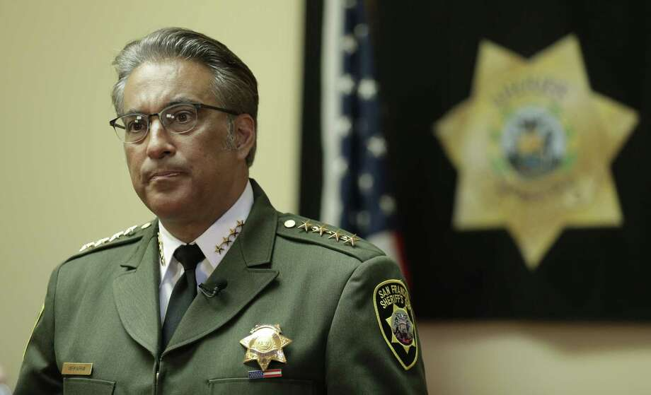 San Francisco Sheriff Ross Mirkarimi fields questions during an interview Monday in San Francisco. Mirkarimi was already fighting for his political life. Then his jail released a Mexican national wanted by federal immigration authorities who wanted to deport the man for the sixth time. The jail's decision to release Juan Francisco Lopez-Sanchez, who is charged with randomly shooting to death a young San Francisco woman shortly after his release, has placed Mirkarimi squarely in the center of a national debate over immigration. Photo: Associated Press   / AP
