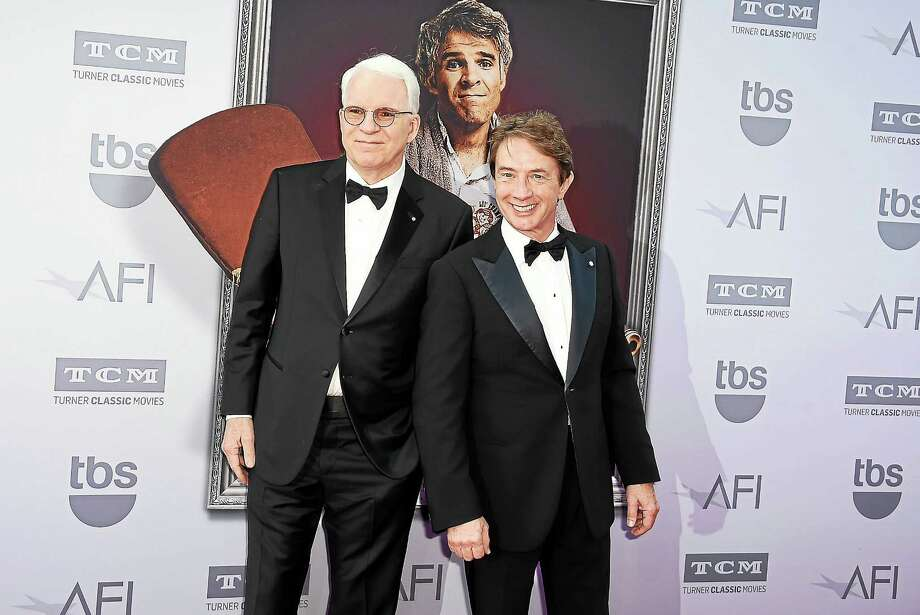 Honoree Steve Martin left, and Martin Short arrive at the 43rd AFI Lifetime Achievement Award Tribute Gala in Los Angeles in June. Photo: Jordan Straus - AP   / Invision