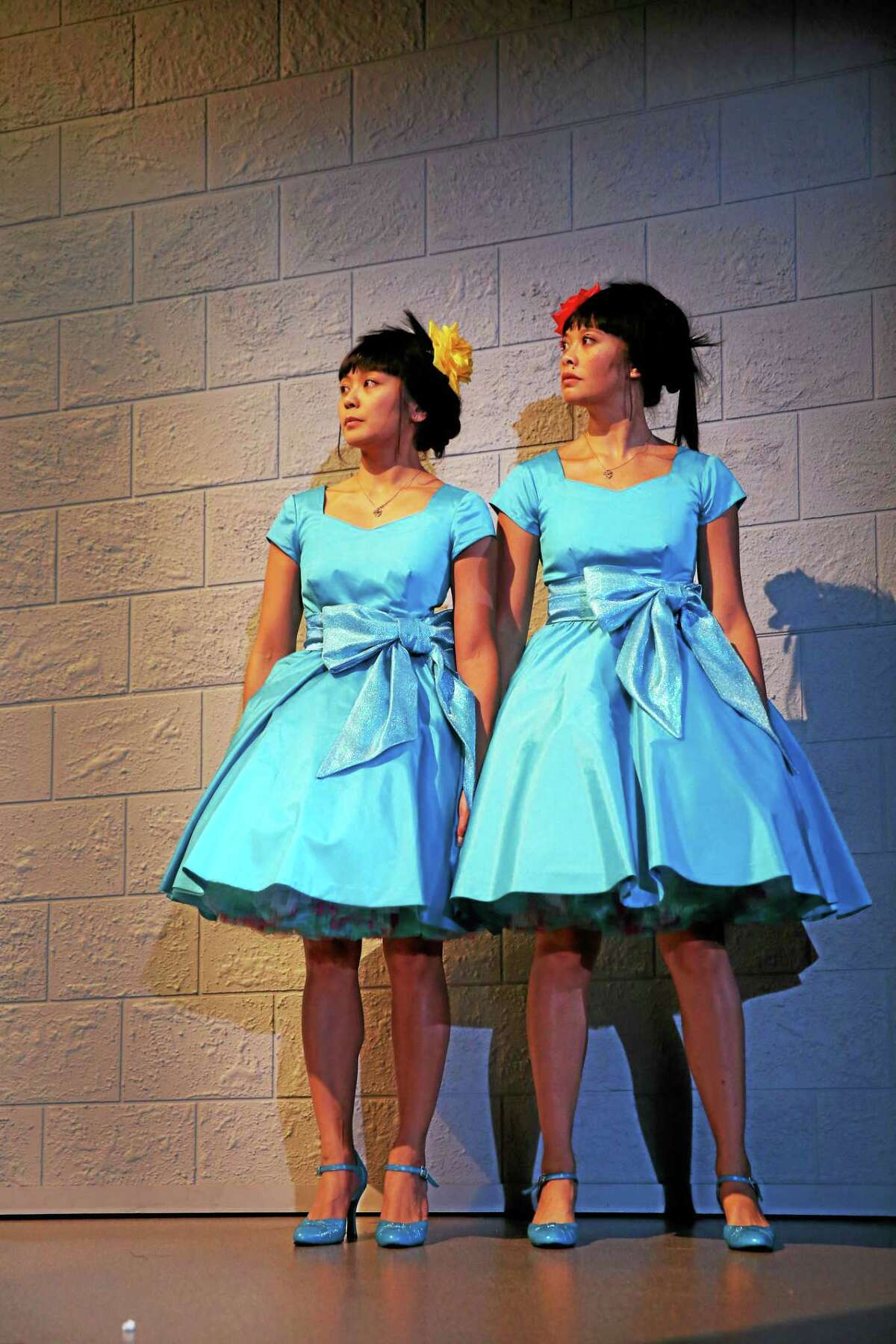 "Teresa Avia Lim, left, and Tiffany Villarin star in ""peerless"" by Jiehae Park and directed by Margot Bordelon."
