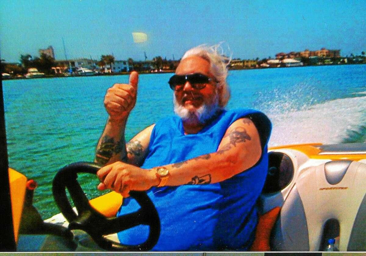 Joseph Torchia on his son's boat.