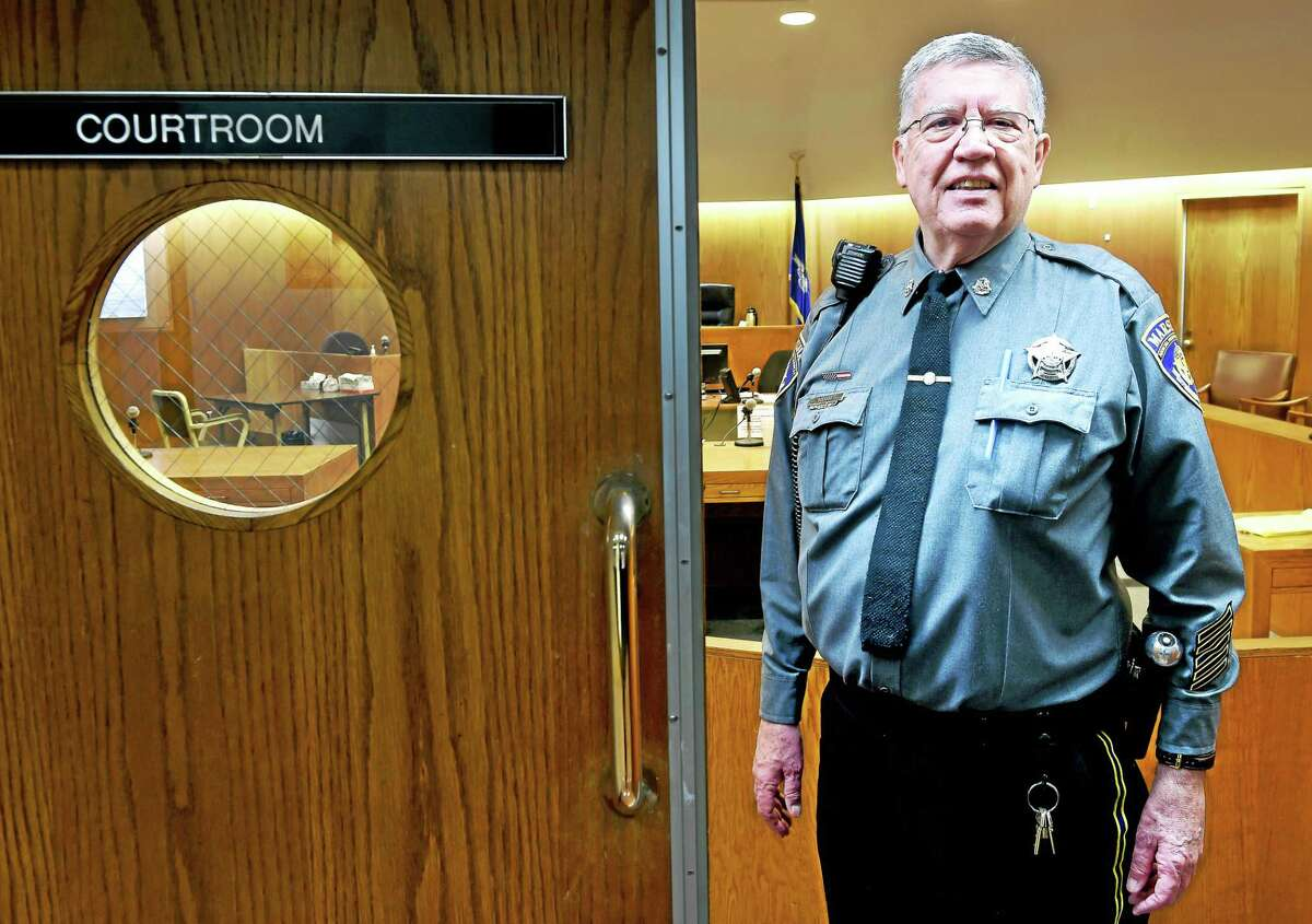 Judicial Marshal Gary Roth, photographed on 12/1/2015, will retire at the end of the year.
