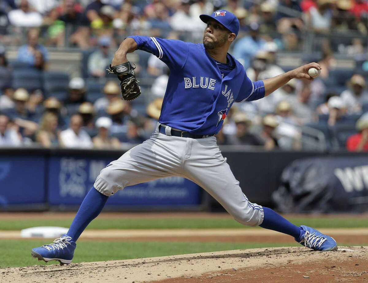 Toronto Blue Jays pitcher David Price delivers against the Yankees during the second inning Saturday in New York.