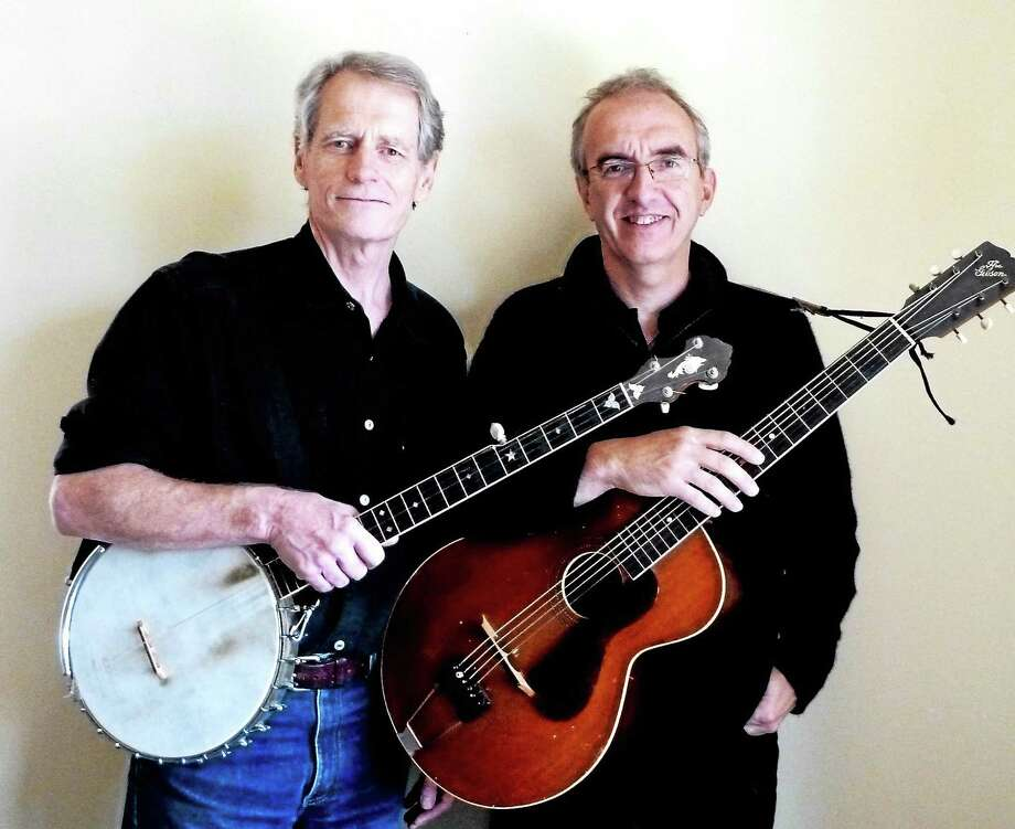 """Jeff Davis, left, and Brian Peters present """"Sharp's Appalachian Harvest"""" Saturday night in Branford. Photo: Contributed"""