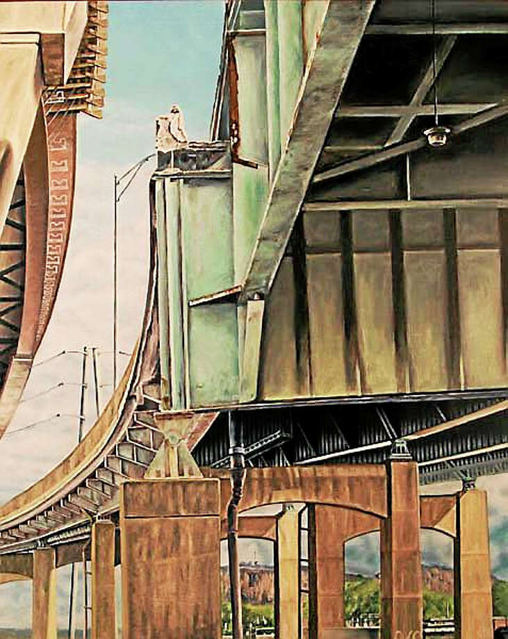 """Metacomet Bridge"" (2014) by Michael Angelis is part of the auction. Photo: Contributed"