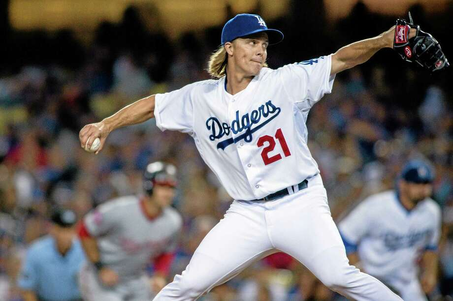 Los Angeles Dodgers starter Zack Greinke has become a free agent. Photo: Sarah Reingewirtz — Pasadena Star-News File Photo   / LANG DFM