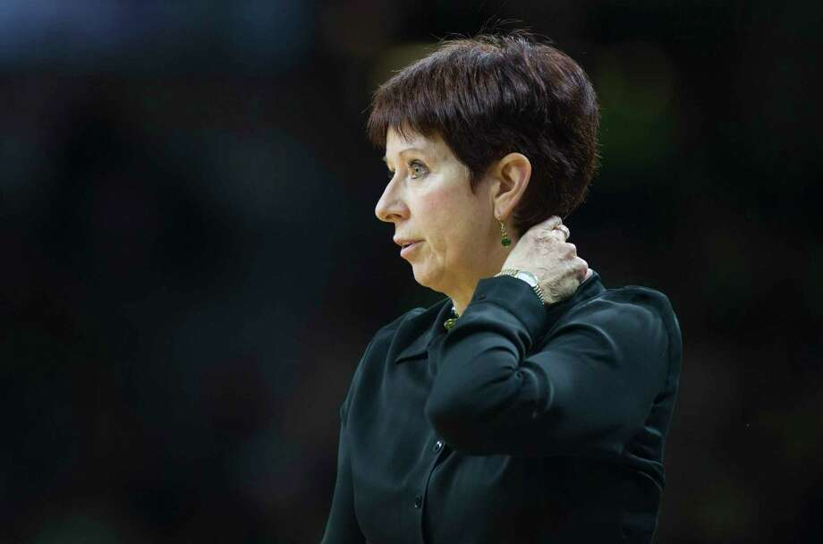 Notre Dame head coach Muffet McGraw leads her Fight Irish against UConn today at 5:15 p.m. Photo: Robert Franklin — The Associated Press   / FR17139 AP