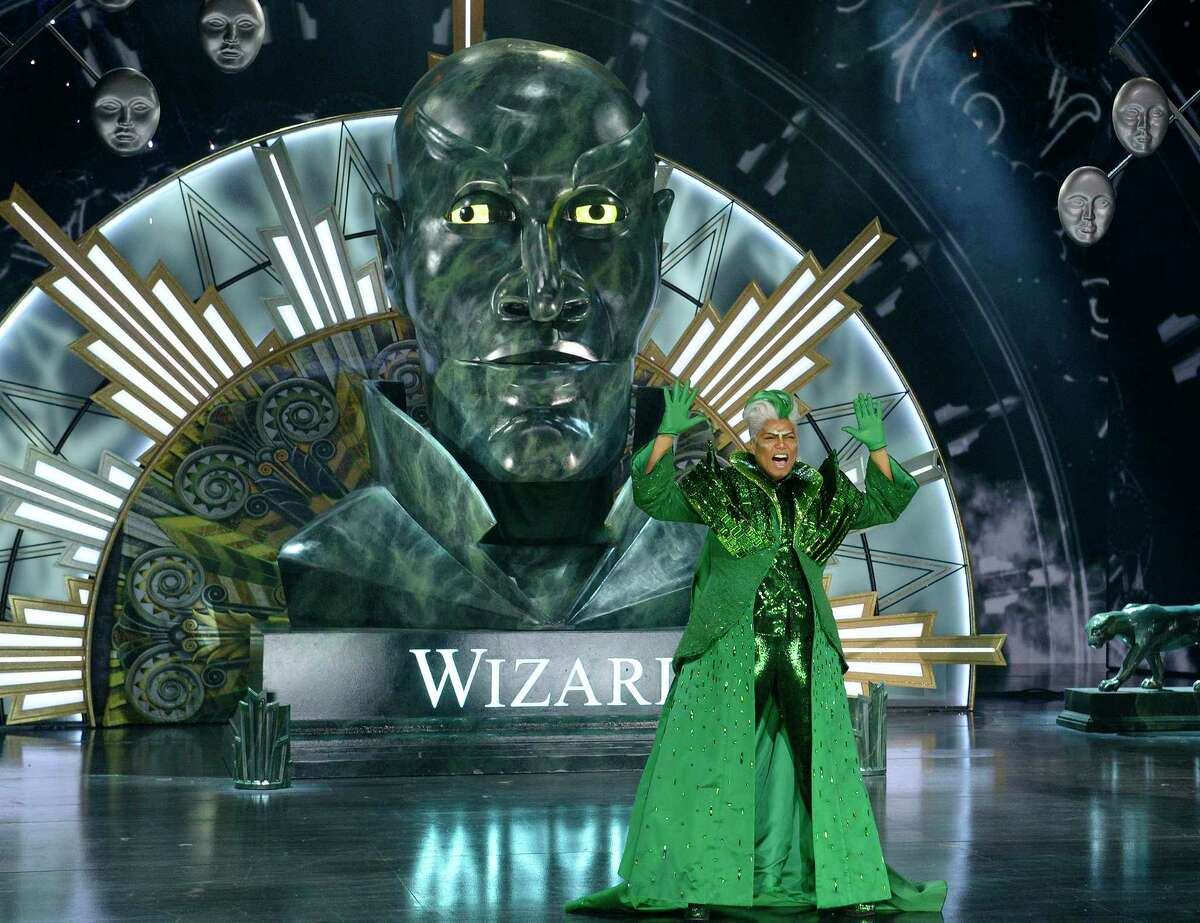 "This Nov. 30, 2015, image released by NBC shows Queen Latifah as The Wiz during a dress rehearsal of ""The Wiz Live!' in New York."